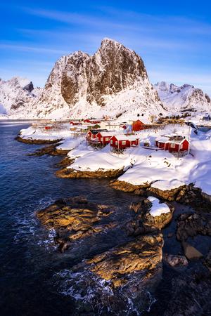 Hamnoy village in winter seasons, Lofoten Islands, Norway