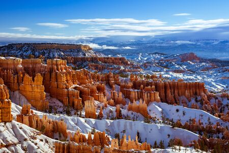 Bryce Canyon National Park in Winter, Utah, USA Banco de Imagens