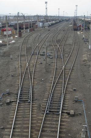 Railway station node. Trans-Siberian way in Russia Stock Photo - 2087436