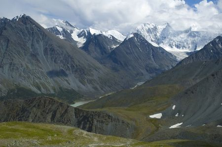 Belukha is highest peak of Altay mountains. 4506 meters. Russia Stock Photo - 2225098