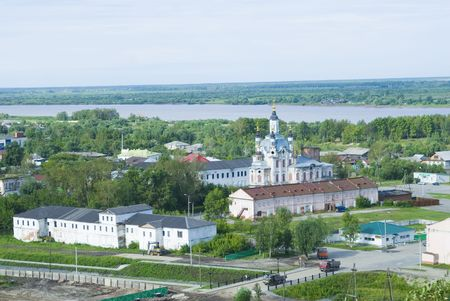 Old part of Tobolsk town which was founded in 1587 by cossack Ermak photo