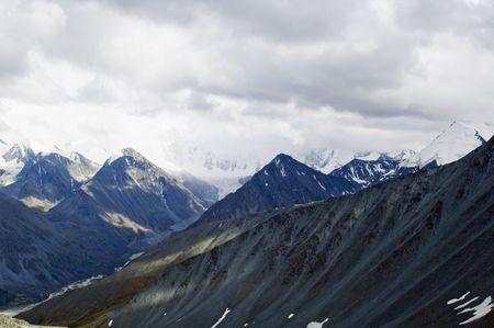 Range of peaks with highest peak of Altai - 4506 meters Stock Photo - 2705507