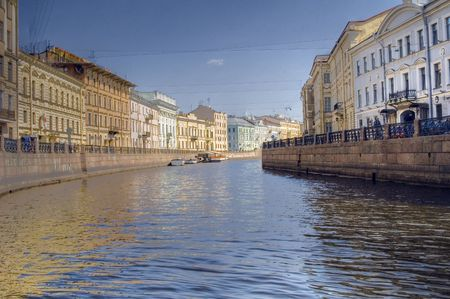 Saint Petersburg. Russia. Fontanka river from boat photo