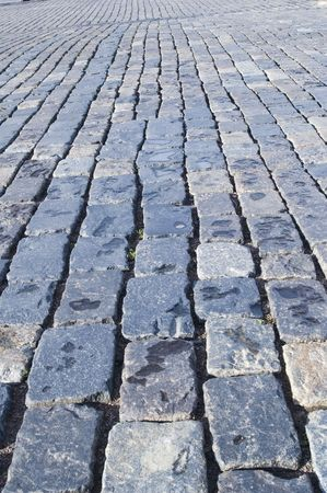 Red Square in Moscow. Stone blocks in road Stock Photo - 2775648