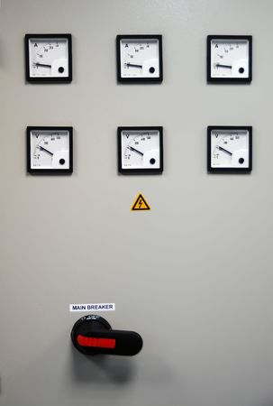 Electric Meter Board with Breaker inside photo