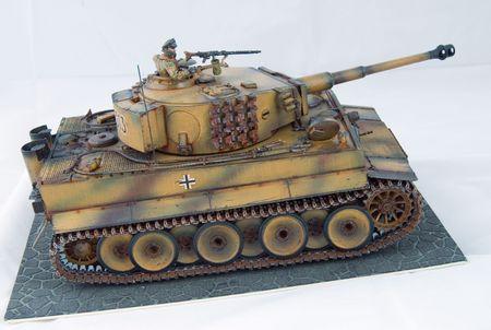 wwii: German tank of World War II in miniature model