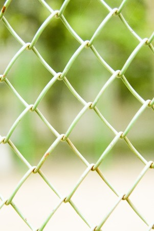 Closeup detail of a chain link fence Stock Photo - 7605334