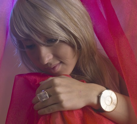 Girl with watch photo