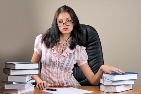 Lady-boss in office photo