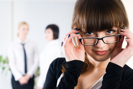Businesswoman in office Stock Photo - 8269216