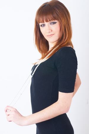 Girl with red hair photo