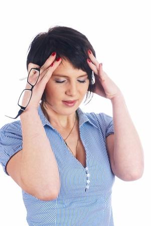 Girl with headache photo
