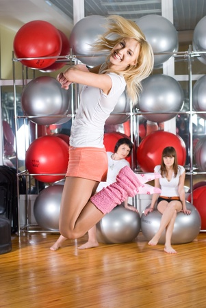 Fitness girls Stock Photo