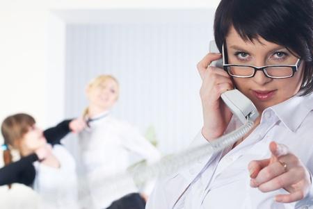 Calling woman photo