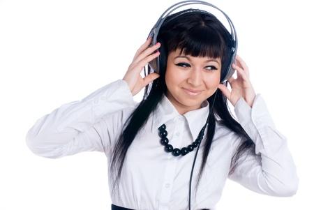 Woman with headphones Stock Photo - 8545707