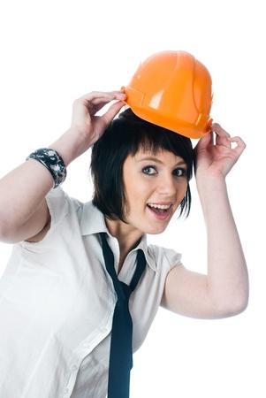 Girl in helmet photo