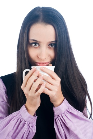 Woman with cup Stock Photo - 8671256