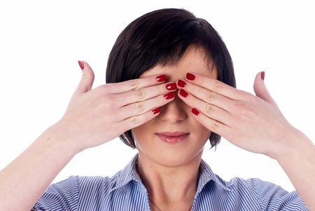 Woman with closed eyes photo