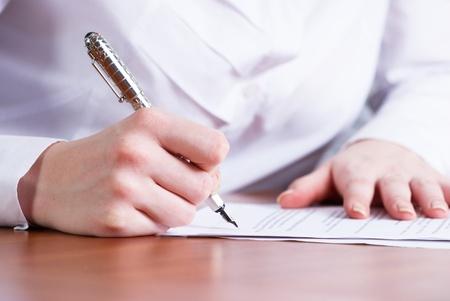 Writing girl photo