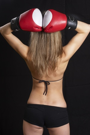Pretty boxing girl Stock Photo - 8711006