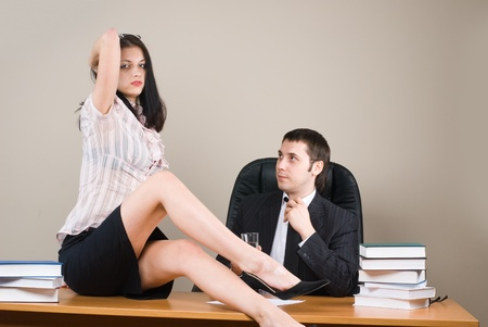 Boss and him secretary Stock Photo - 8800508
