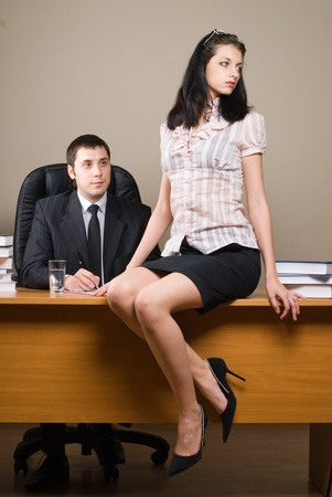 Boss and him secretary photo