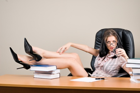 Young woman boss Stock Photo