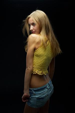 Portrait of beautiful blonde photo