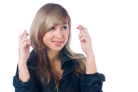 crossed fingers: Crossed fingers gesture