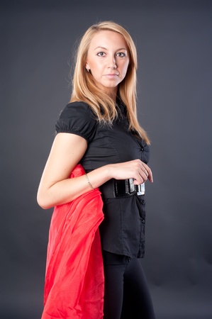 Pretty girl in black photo