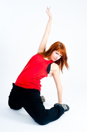 Young woman dancing photo
