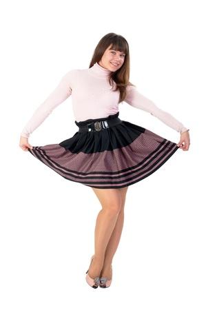 waist belt: Young playful woman