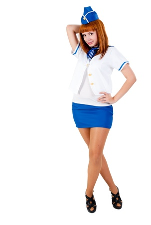 Young beautiful air hostess Stock Photo - 12624506