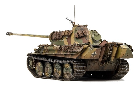 turrets:  Panther  tank Stock Photo