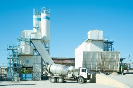 cemento: Hormig�n planta de hormig�n en la construcci�n de la f�brica de material ZHBI-5, Tyumen Rusia