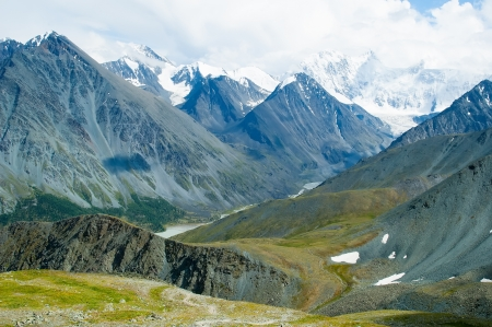 Range of peaks with highest peak of Altai - 4506 meters photo