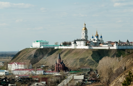 blessed trinity: Siberian kremlin complex and catholic Church of the Blessed Trinity in Tobolsk town  Tyumen region  Russia