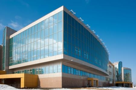 exteriores: centro de radiología para pacientes oncológicos en Tyumen, Rusia Foto de archivo