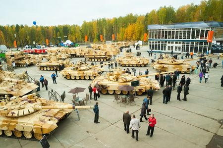 clearer: Demonstration of military machines on RAE-2013 exhibition  25-28 september 2013  Nizhniy Tagil  Russia Editorial
