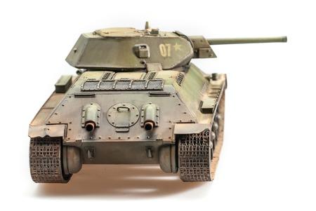 Legendary Soviet tank T-34 at war in the second world war  Stock Photo