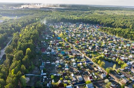 cooperativismo: Vinzili, Rusia - 13 de mayo 2015: Ver en dacha de cooperaci�n de la regi�n de Tyumen en primavera