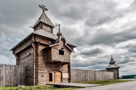 settlements: Russia. Yalutorovsky jail. One of first city settlements in territory of Siberia. It is recreated in an original form to 350 anniversary of Yalutorovsk town