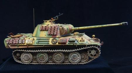 world war 2: Tiger historic german World War 2 tank replica over black background