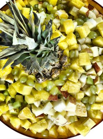 self made: Fresh self made fruit salad on plate
