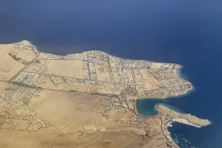 sharm el sheikh: Hotels with Red Sea beaches and residential districts in Sharm El Sheikh. Egypt