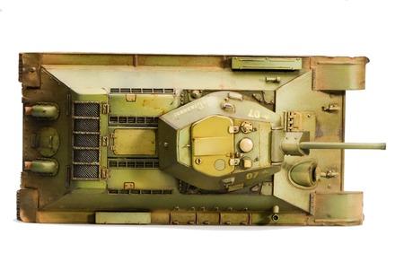 seconda guerra mondiale: Serbatoio in guerra nella seconda guerra mondiale. Vista dall'alto Archivio Fotografico