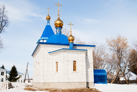 healer: Yalutorovsk, Russia - April 3, 2010: The hospital temple in honor of an Healer icon of the God Mother