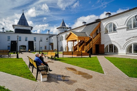 Tobolsk, Russia - July 15, 2016: Interior of Guest Yard. The building of Gostiny dvor is built in 1703 - 1706 on the project of the architect, cartographer and historian of Siberia S. U. Remezov Editorial