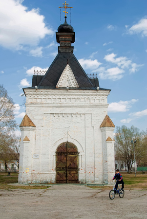 Tobolsk, Russia - May 2, 2010: Alexander Nevsky Chapel in Alexander garden on May 02, 2010. It is constructed in memory of visit of Tobolsk by successor of throne, future tsar Alexander the Second.