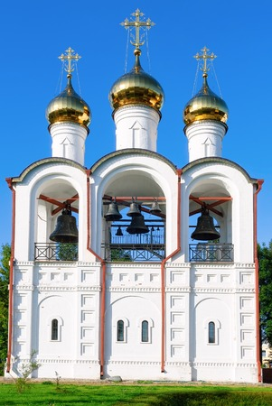 beheading: Pereslavl-Zalesskiy, Russia - September 1, 2009: Church of the Beheading of St. John the Baptist in St. Nicholas Convent Stock Photo